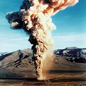 "December 18, 1970: The underground detonation of the 10 kiloton ""Baneberry"" bomb caused a giant radioactive cloud, exposed the test site personnel to about 247 PBq of radioactive particles and caused nuclear fallout in the states of California, Idaho, Orgeon and Washington."